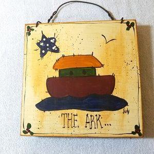 Vintage Noah's Ark Plaque